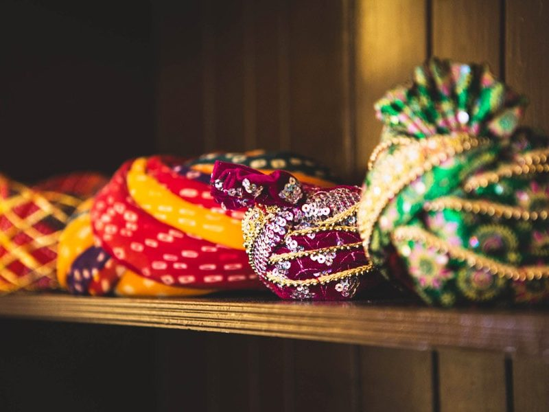 Traditional turbans of Rajasthan